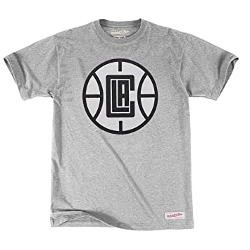 Mitchell & Ness Los Angeles Clippers Black & White Logo NBA – Camiseta Gris