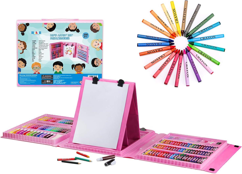 Juego de 28 l/ápices de dibujo kit de arte con cuaderno de bocetos l/ápices de doble punta de color sacapuntas de borrador para ni/ños adultos y principiantes de arte