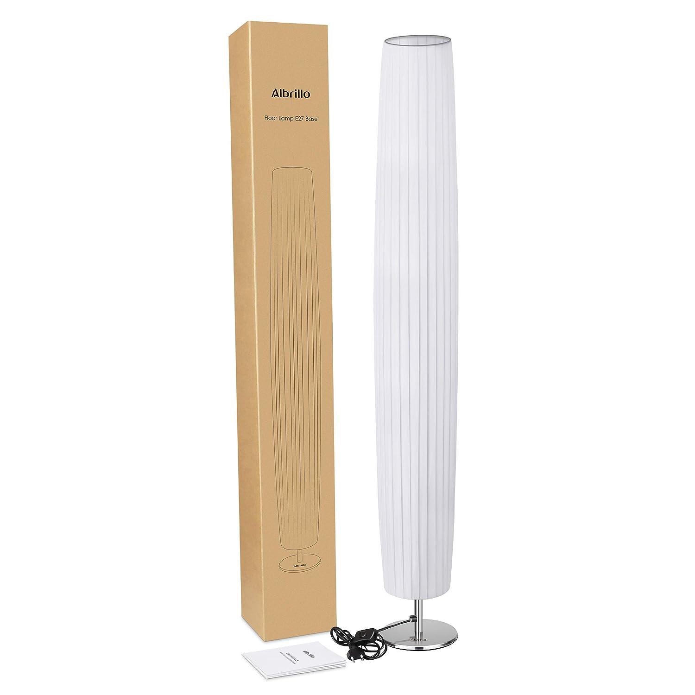 Albrillo Stehlampe Moderne E27 Stehleuchte Mit Tube Lampenschirm