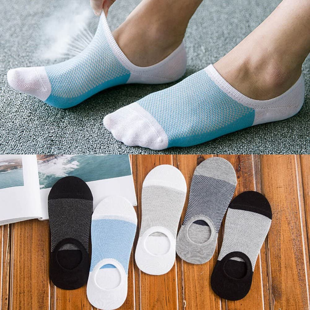 yingyue Sport Casual Soft Breathable Ankle Socks Non-Slip Invisible Low Cut No Show Socks