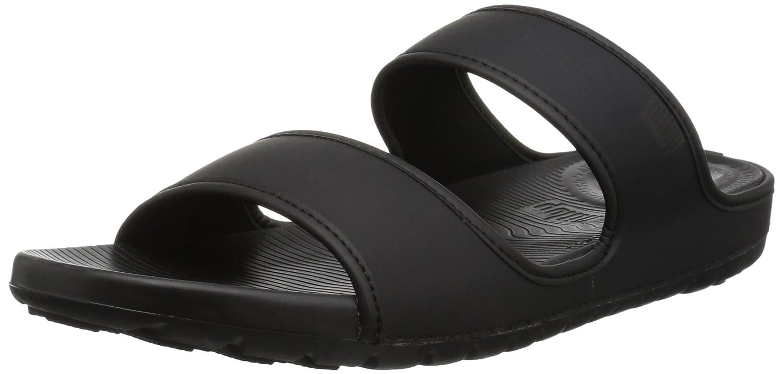 Fit Flop Lido TM Double Slide Sandals In Neoprene, Chanclas para Hombre 45.5 EU Negro