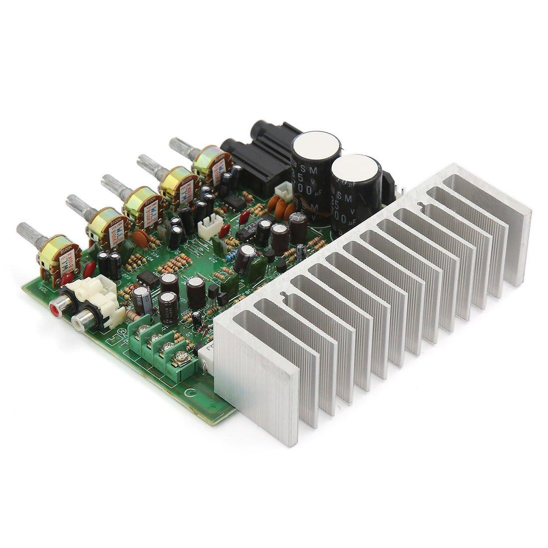 sourcing map AC22-26V 250W+250W LFE Subwoofer Audio Hi-Fi 4 Channel Car Boat Stereo Power Amplifier Board