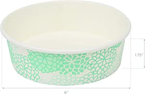 Glad for Pets Disposable Feeding Bowls   Small Disposable Dog Bowls in Assorted Designs  1.75 Cup Feeding Size, 100 Count - Dog Bowls are Great for Dry and Wet Dog Food or Water