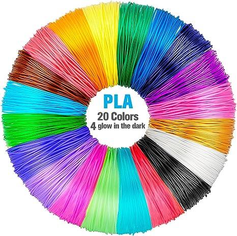 QPAU Pluma 3D Filamento 1.75mm 5M PLA Material de 16 Colores ...
