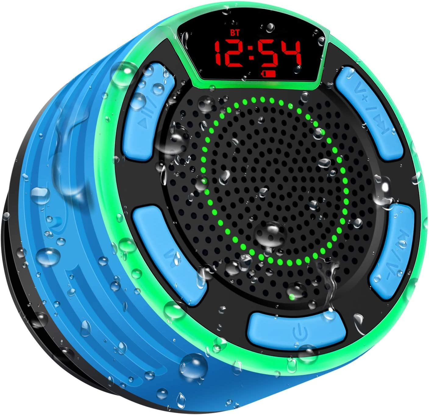 BassPal IPX7 Waterproof Portable Shower Speaker