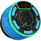 Bluetooth Speakers, BassPal IPX7 Waterproof Portable Wireless Shower Speaker with LED Display, FM Radio, Suction Cup…