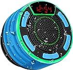 Bluetooth Speakers, BassPal IPX7 Waterproof Portable Wireless Shower Speaker with LED