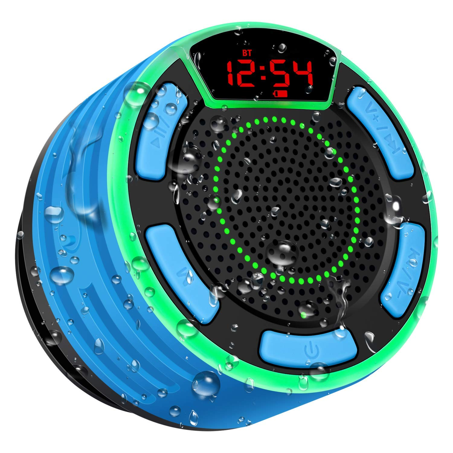 bluetooth-speakers-basspal-ipx7-waterproof-portable-wireless-shower-speaker-with-led-display-fm-radio-suction-cup-light-show-tws-loud-stereo-sound-for-pool-beach-home-party-travel-outdo