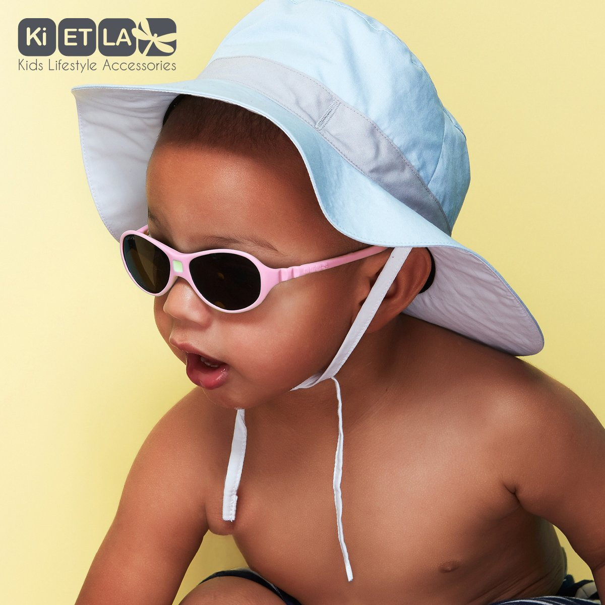 2a96ad5225 Ki ET LA Jokaki, Gafas de Sol Unisex Bebé, Coral, 4 T2