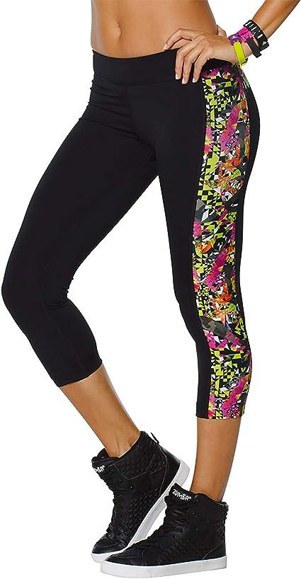 Zumba Dance Fitness Pantalon de Compression pour Femme Imprim/é Capri