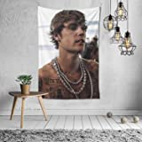 Justin-Bieber Tapestry Wall Hanging Home Decor Mural Blanket Tapestries 60 x 40Inch color12