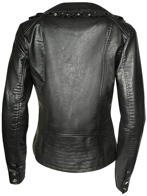 Amazon.com: Jessica Simpson - Chaqueta de moto de piel ...