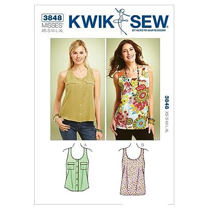 Amazon.com: Kwik Sew K3848 Tank Tops Sewing Pattern, Size XS-S-M-L ...
