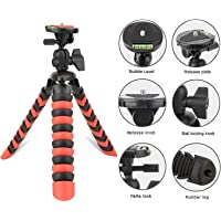 YANTRALAY SCHOOL OF GADGETS 12 inch Flexible Gorillapod Mobile Tripod, Rotating Ball Head for DSLR, Action Cameras and Smartphones (Red)