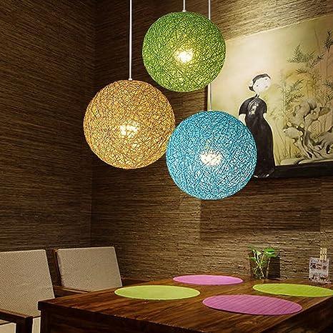 Colgante Lámpara de Techo Decoración para Sala de Estar, Dormitorio, Cuarto de Niños, Comedor - Verde