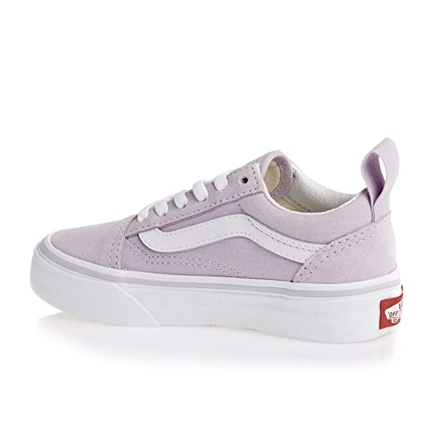 62a73bdf78a Vans Old Skool Elastic Lace Kids Shoes UK 12 (Jnr) Lavender Fog True White   Amazon.co.uk  Shoes   Bags