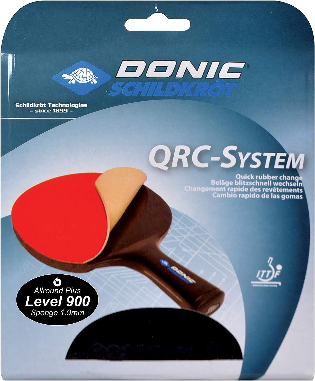 Donic-Schildkröt Almohadilla de Repuesto QRC Nível 900 para Raquetas de Tenis de Mesa, Esponja de 1,9 mm Champion, Aprobada por ITTF, 752575