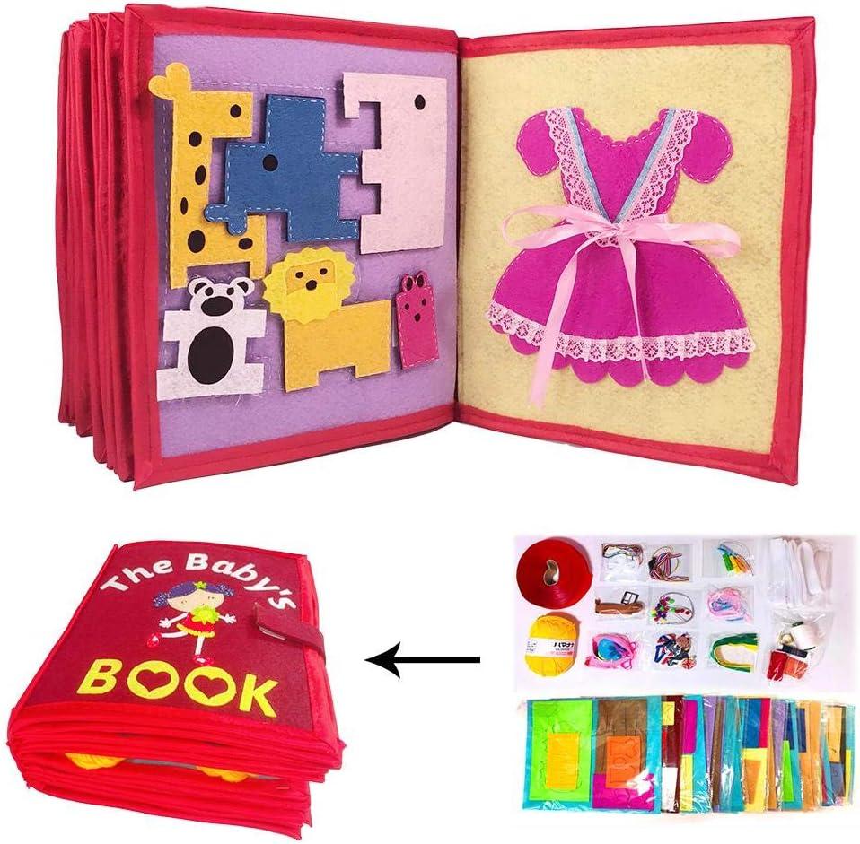 Libros de tela para bebés tela no tóxica Libro suave Desarrollo de conciencia
