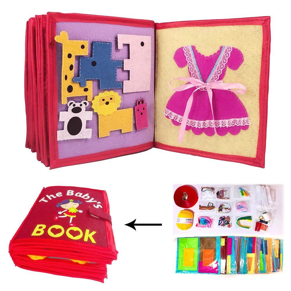 tuchbuch baby Stoffbuch Kinder Fr/ühes Lernen P/ädagogische Spielbuch FAVOURALL