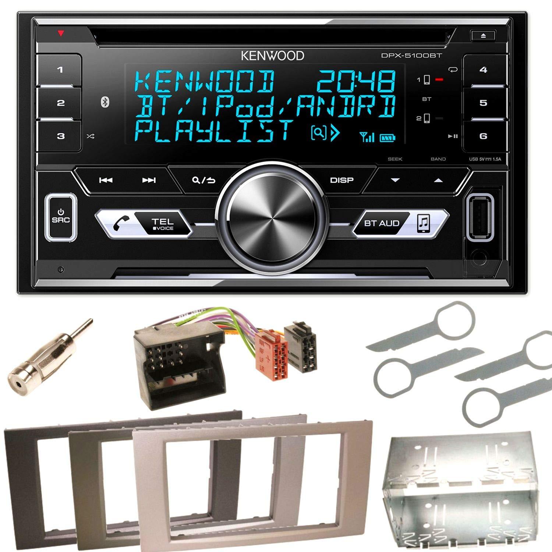 Kenwood DPX-5100BT Bluetooth USB MP3 Autoradio CD AOA2.0 iPhone iPod Doppel Din Einbauset fü r Ford Focus C-Max Fiesta Transit, Farbe der Radioblende:Schwarz ACR-Bad Hersfeld 98995