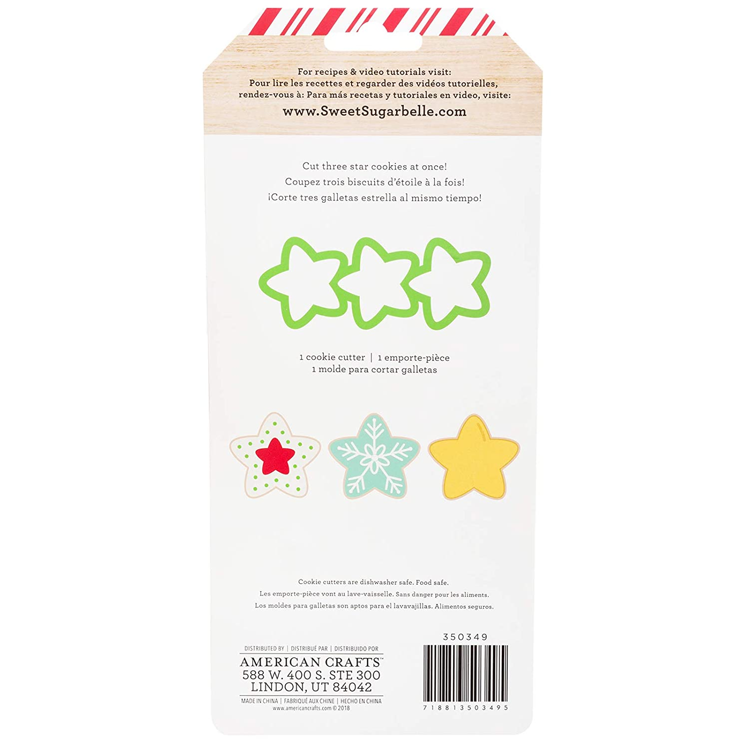 Amazon.com: Sweet Sugarbelle 350349 Star Mini Cookie Cutter Mutli: Arts, Crafts & Sewing