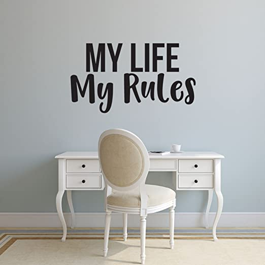 Life Inspiration Wall Quote House Rules Art Decal Vinyl Sticker Removable Decor