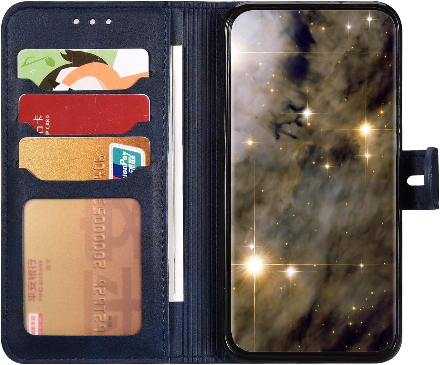 Herbests Compatible avec Samsung Galaxy A10S Coque,Protection Etui Housse en Cuir Premium Portefeuille Protection Etui Livre,Flip Case Portefeuille Etui avec Stand Support et Carte Slot,Jaune