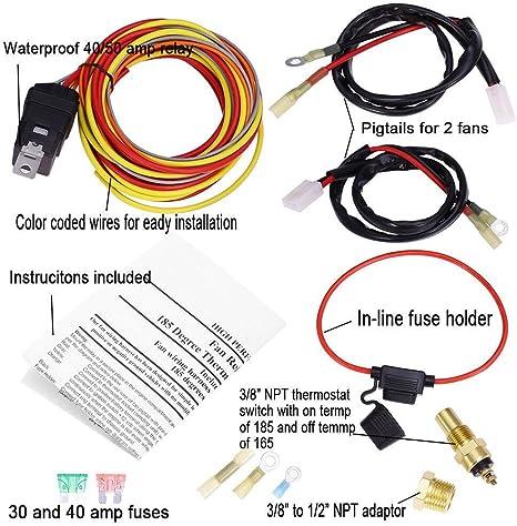 Kit de arnés de cables para ventilador de refrigeración eléctrica ...