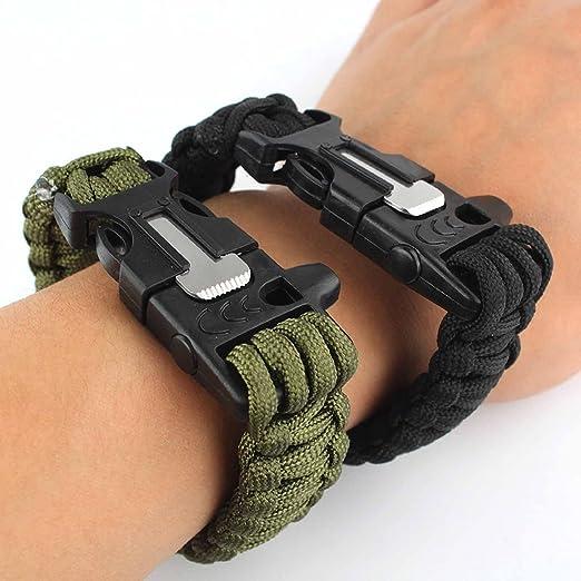 267 opinioni per Lance Home Confezione di due bracciali di sopravvivenza in paracord, con