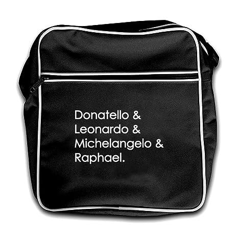 Amazon.com | Ninja Turtle Names - Retro Flight Bag-Black ...
