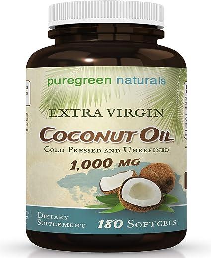 Aceite De Coco Virgen Extra Orgánico Cápsulas 1000 Mg 180 Softgels Gran Pastillas Para La Gestión De Energía Peso Cabello Y Piel Health Personal Care