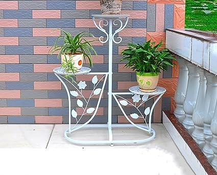 Jcrnjsb scaffali da fiori in ferro soggiorno balcone interno e