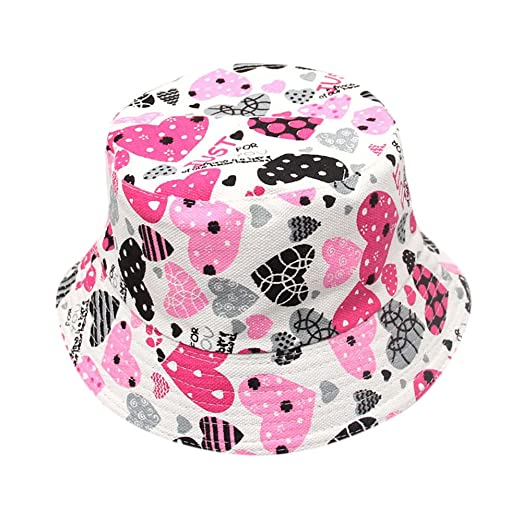 fe2d5aae234 Image Unavailable. Image not available for. Color  CHIDY Baby Toddler Kids  Boys Girls Floral Pattern Bucket Hats Sun Helmet Cap ...
