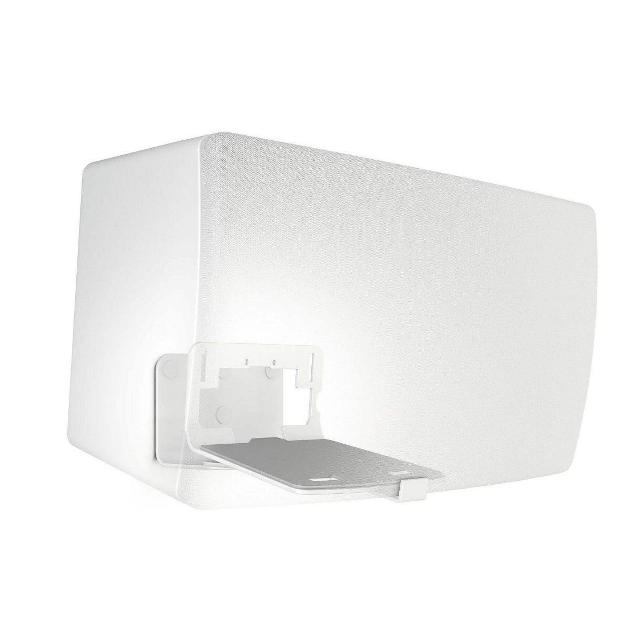 Vogel's Speaker Wall Mount, Universal and for SONOS Play - SOUND 3205 W for Play 5, Denon HEOS 5 & 7 and other speakers, White (single mount)