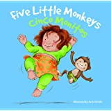 Cinco monitos: Five Little Monkeys (Nursery Rhymes) (English and Spanish Edition)