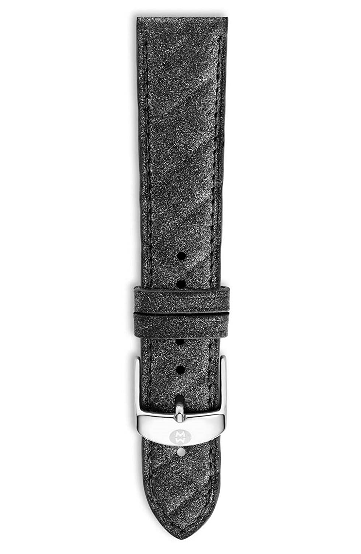 (ミケーレ) MICHELE 18mm Quilted Leather Watch Strap / 18mmキルティングレザーウォッチストラップ (並行輸入品) black B077Z2GQHV