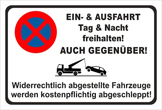 KE-Partyzubehör - Cartel de Prohibido aparcar, también en ...