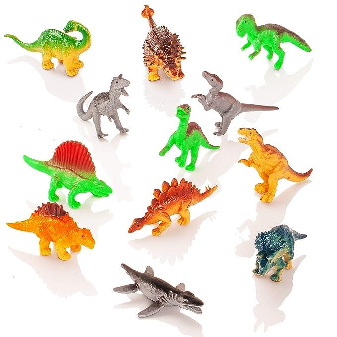 Camión transportador de Dinosaurios y 12 Figuras de Juego de Dinosaurios de Juguete - Jurassic Dino World Set: Amazon.es: Juguetes y juegos