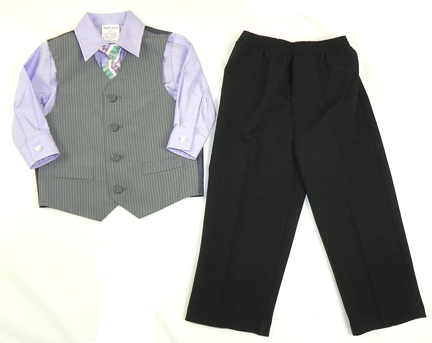 4-12 Van Heusen Sharkskin 4-Piece Vest Set