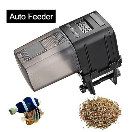 Focuspet Alimentador para Acuario, Alimentador para Mascotas para Acuario Alimentador para Peces Digital para Comida