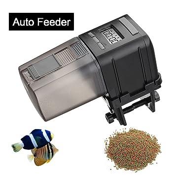 Focuspet Alimentador para Acuario, Alimentador para Mascotas para Acuario Alimentador para Peces Digital para Comida programable para Mascotas Acuario con ...