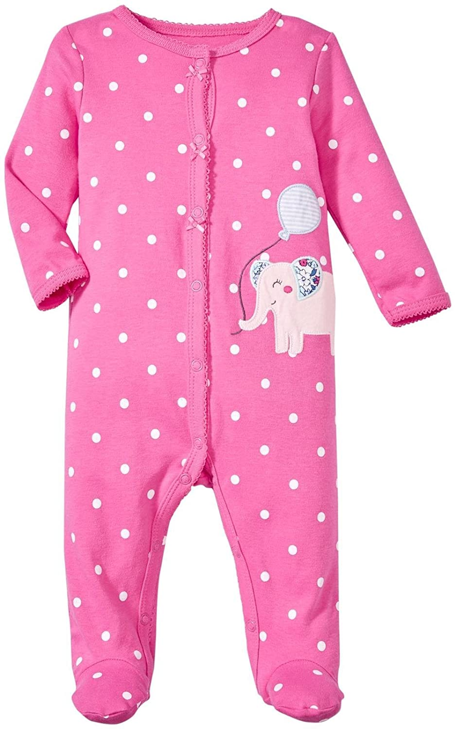 Carters Baby Girls Smiley Kitten Terry Coverall