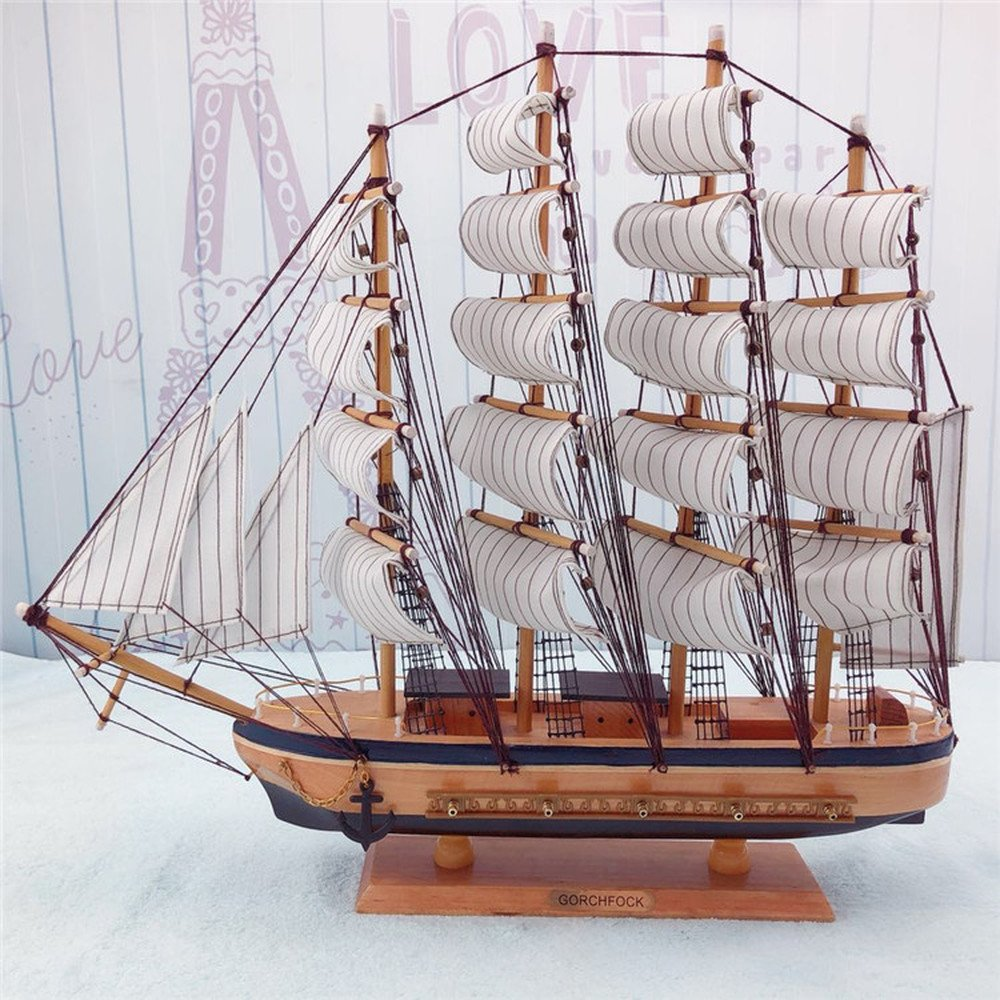 BWLZSP A PCS Smooth sailing model ornaments Solid wood handmade craft boat Home decorations holiday gifts AP5181711