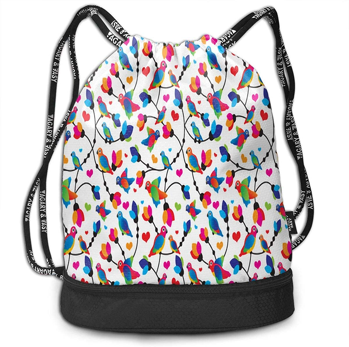 Drawstring Backpack Parrot Bags