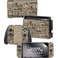 Controller Gear Officially Licensed Nintendo Switch Skin & Screen Protector Set - The Legend of Zelda: Hieroglyphic…