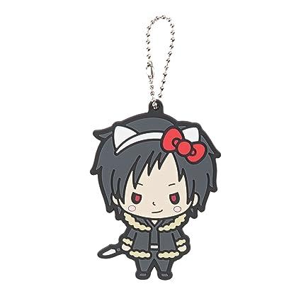18d93cd9437f Amazon.com  Animewild Hello Kitty X Durarara!! Izaya Orihara Chibi  Character Keychain