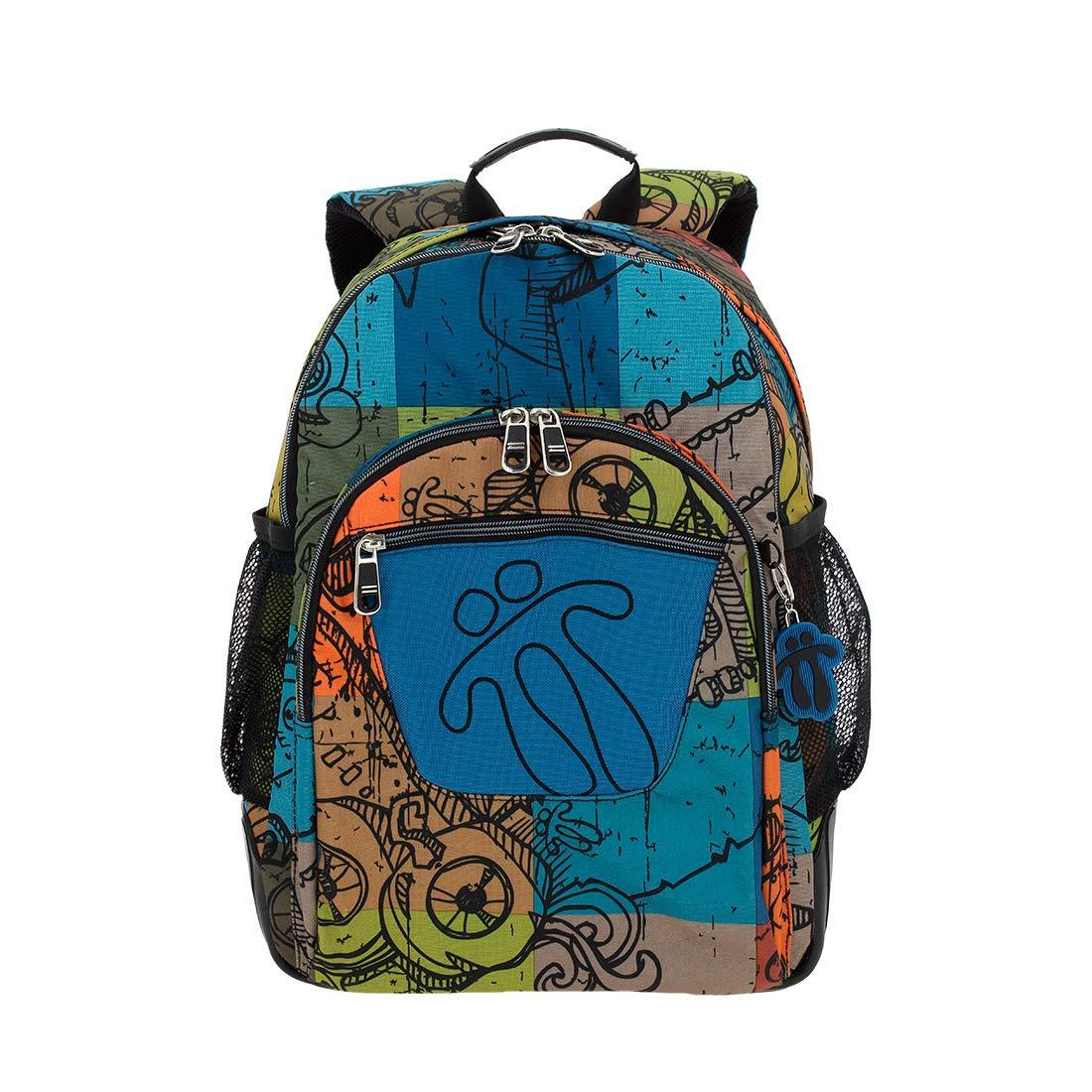 TOTTO Schoolバックパック、大きい乳児、バックパックを含むSacàDos Enfants、44 cm、20リットル、色とりどりの(多色) B073CYFZWT
