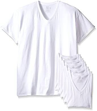 302ce9124a7 Image Unavailable. Image not available for. Color  Fruit of the Loom Mens  6Pack Tall White V-Neck T-Shirts ...