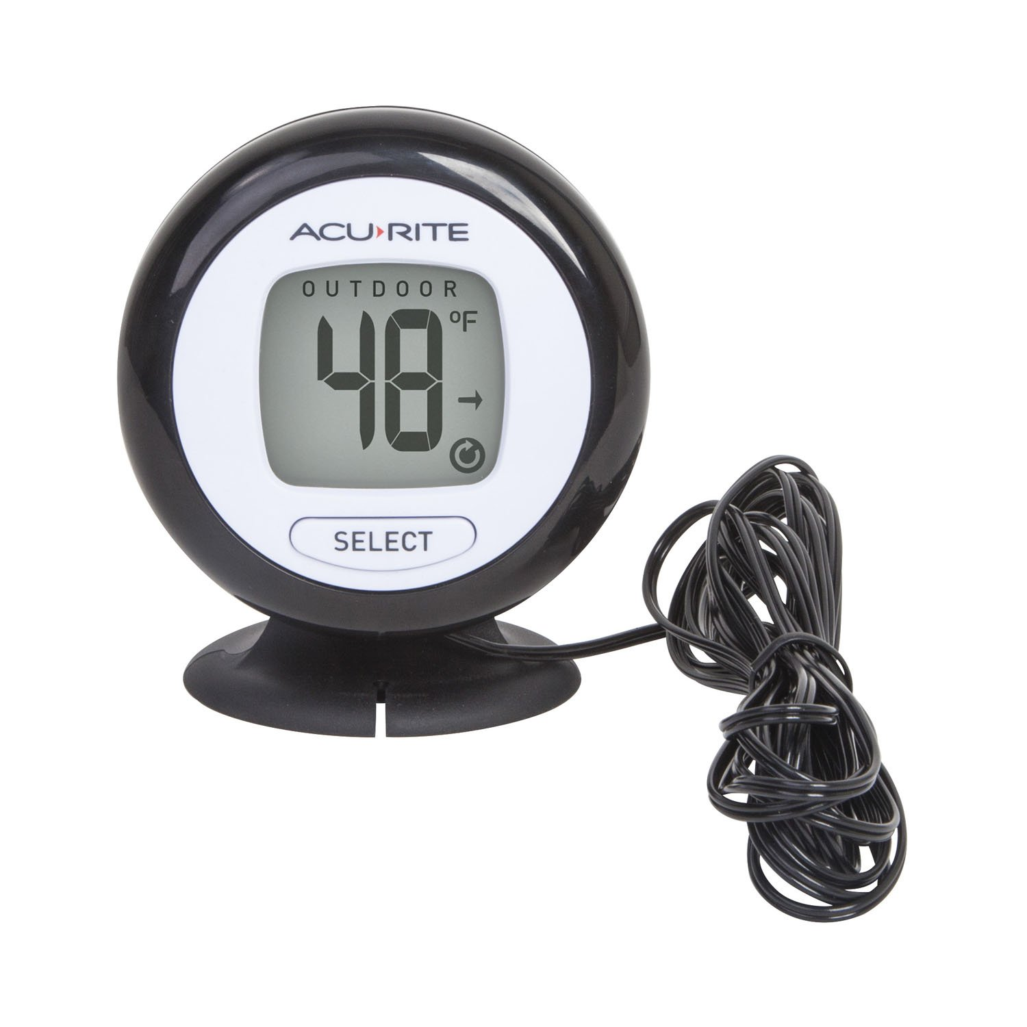 AcuRite 02042 Digital Thermometer with 10' Temperature Sensor Probe and Humidity