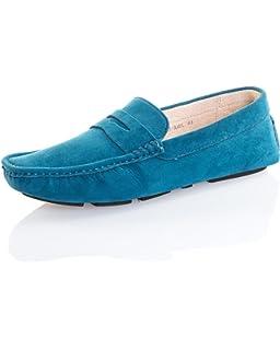 Reservoir Shoes Chaussure Mocassin Homme Basse Bleu Petrol Effet Daim a7519bac00ae